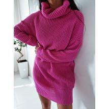 Ružový oversize sveter-255929-03
