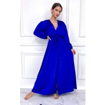 Mordé dlhé saténové šaty-255902-05