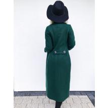 Dámsky zelený predlžený kabát-196896-026