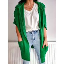 Zelený kardigán s kapucňou-231589-04
