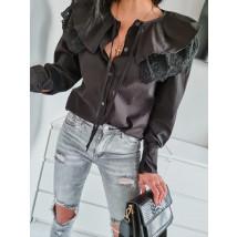Čierna trendy košeľa-236578-01
