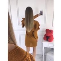 Žlté dámske pletené šaty-196152-01