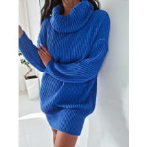 Modrý oversize sveter-255928-02