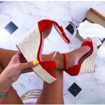 Červené sandále na platforme-211488-01