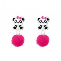 Detské strieborné náušnice panda-232079-01
