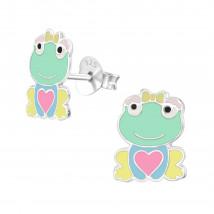 Detské strieborné náušnice žabka-232056-01