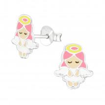 Detské strieborné náušnice anjelik-232017-01