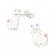 Detské strieborné náušnice lama-232013-01