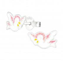 Detské strieborné náušnice vtáčik-232039-01