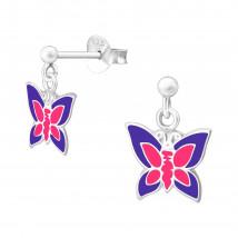 Detské strieborné náušnice motýlik-232165-01