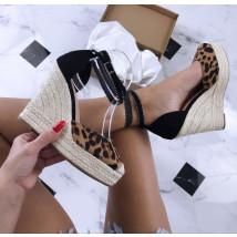 Dámske leopardie sandálky na platforme-181255-01
