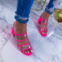Neónovo ružové sandálky-209561-01