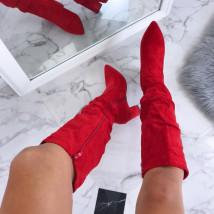 Dámske červené pohodlné čižmičky-192122-01