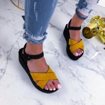 Žlté sandálky na platforme-210216-04