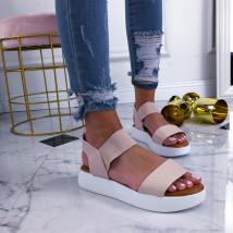 Béžové sandálky na platforme-210356-01