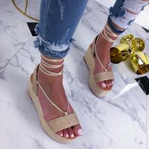 Béžové sandále na šnurovanie-210310-05
