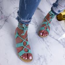 Zelené šnurovacie sandálky-210215-06