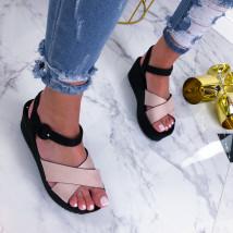 Béžové sandálky na platforme-210231-05