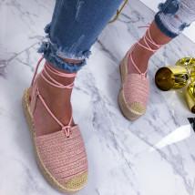 Ružové šnurovacie sandálky-210130-02