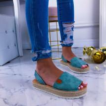 Modré dámske sandálky-210972-01