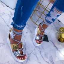 Zlaté sandále na platforme-211084-01