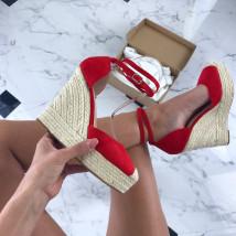Červené sandálky na platforme-205907-03