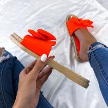 Neónovo-oranžové dámske šĺapky-212066-010
