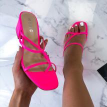 Neónovo ružové dámske sandále-212383-02