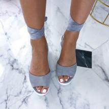 Sivé sandálky na platforme-212649-01