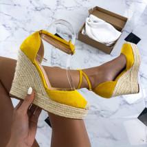 Žlté sandále na platforme-212490-02