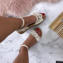 Dámske pohodlné béžové sandálky-184889-02
