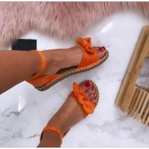 Dámske pohodlné oranžové sandálky-185070-01