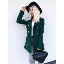 Dámsky zelený elegantný kabát-195570-08