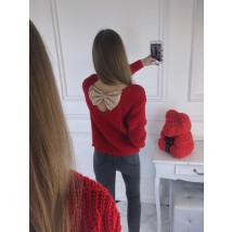 Dámsky červený svetrík-196670-07