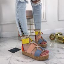 Farebné sandálky na platforme-207480-03