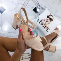 Béžové dámske sandále-213958-02
