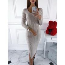 Béžové pletené šaty-220097-04