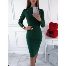 Zelené úpletové šaty-220088-01