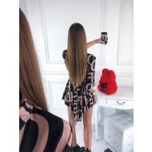 Hnedo-čierne šaty so vzorom-220100-01