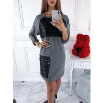 Sivé oversize šaty-220070-03