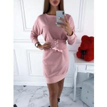 Ružové šaty s opaskom-220082-09
