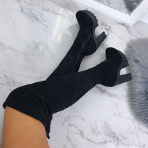 Čierne dámske čižmy na platforme-163895-04