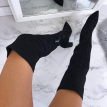 Čierne elegantné vysoké čižmy-162708-04