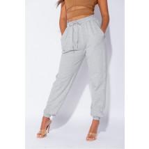 Sivé bavlnené tepláky-225115-012