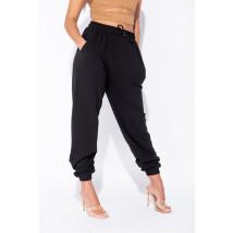 Čierne bavlnené tepláky-225120-01