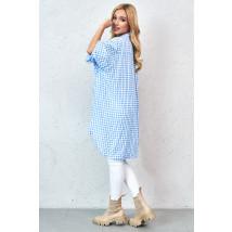 Modrá trendová oversize košeľa-229830-02