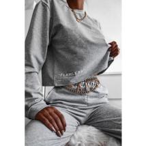 Sivá bavlnená tepláková súprava-227975-015
