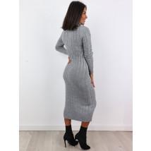 Sivé dlhé pletené šaty-225485-04