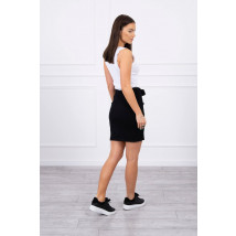 Čierna bavlnená sukňa-216098-05